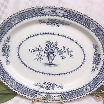 Vintage Wood & Sons Warwick Flow Blue China Medium platter