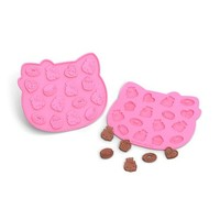 pink Hello Kitty silicone chocolate chocochips mold - Bento Accessories - Bento Boxes