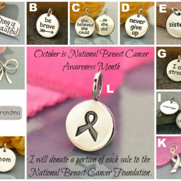 Breast Cancer Awareness Charms