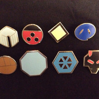 Pokemon Johto Set of 8 Metal Pins