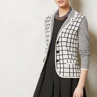 Windowpane Sweater Jacket