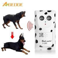 ABEDOE Humanely Ultrasonic Anti Bark Device Stop Barking Machine Control Anti No Dog Barking Silencer Device Silencer EU Plug