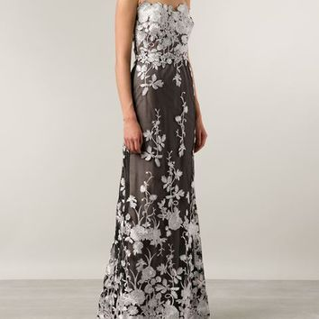 Marchesa Notte Floral Gown Dress - Marissa Collections - Farfetch.com