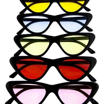 Womens plastic cat eye sunglasses