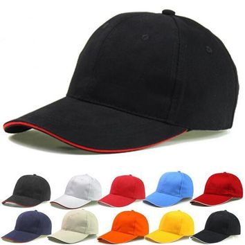 2017 Unisex Plain Solid Washed Cotton Polo Baseball Ball Caps Hat Adjustable Leisure C