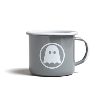 Ghostly Enamelware Mug