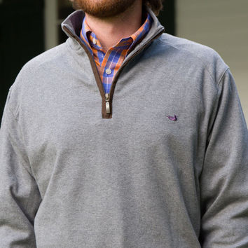 DownpourDry Pullover in Washed Gray by Southern Marsh