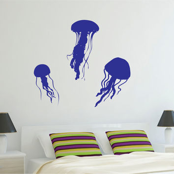 3 Jellyfish Design Animal Decal Sticker Wall Vinyl Decor Art