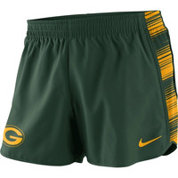 Green Bay Packers Nike Women's Warpspeed Pacer Performance Shorts - Green