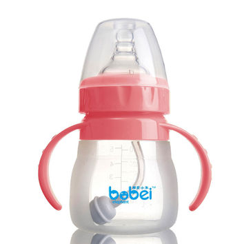 140ml Top Quality Silica Gel Baby Bottle Wide Mouth Mamadeira De Silicone Pipette Copo Com Canudo Baby Garrafa Arc Bebek Biberon