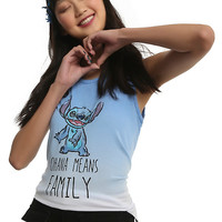 Disney Lilo & Stitch Ohana Ombre Girls Tank Top