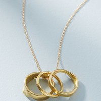 Modern Metalwork Necklace + Ring Set