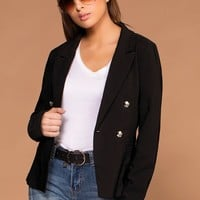 On Top Black Blazer