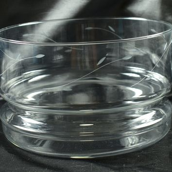 Princess House Crystals Casuals 492 Hand Blown Serving Bowl