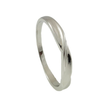 Sterling Silver twisted band High polished Finish