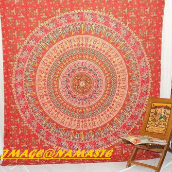 Hippie Hippy Wall Hanging, Indian mandala Tapestry Throw Bed spread, Dorm Tapestry, Bohemian Tapestry, Vintage Decorative Wall Hanging N930