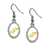 Wedding Rings - Love Romance Dangling Drop Oval Earrings
