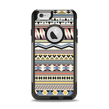 The Tan & Color Aztec Pattern V32 Apple iPhone 6 Otterbox Commuter Case Skin Set