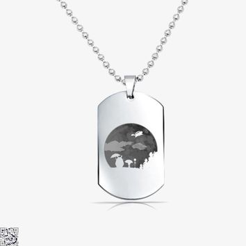 Moon Light, My Neighbour Totoro Tag Necklace