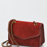 AEO Corduroy Mini Crossbody Bag, Cognac