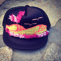 Baby Girl Hand Stitched Trucker Hat by ROUPOLI