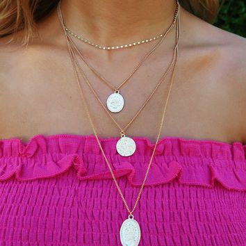 What A Moment Necklace: Gold