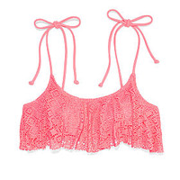 Flounce Bandeau Top - PINK - Victoria's Secret