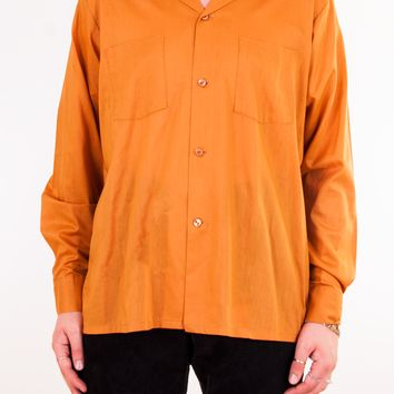 Orange Button-Up Shirt