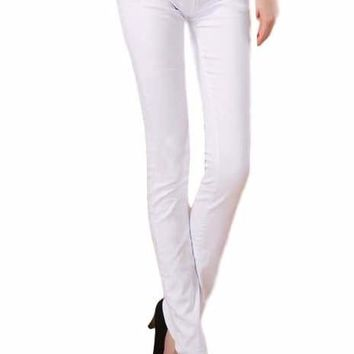 Women White Colored Candy Skinny Jegging Style Skinny Jeans