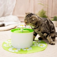 Flower Fountain Automatic 54oz Cat Drinking Fountain Water Dispenser