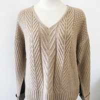 Remi Chunky Knit Sweater- Beige