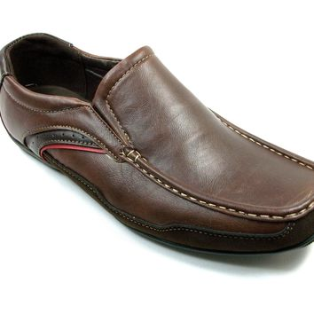 Mens Rocus Slip On Moccasin Driver Loafers Shoes CAS-902 Brown