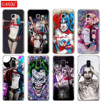 Silicone phone case cover for Samsung Galaxy A8 2018 A3 A310 A5 A510 A7 2016 2017 Harley Quinn Suicide Squad Joker