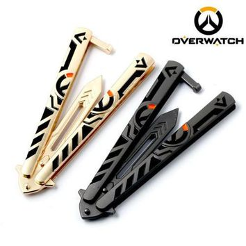 Overwatch Logo Practice Butterfly Balisong Knife