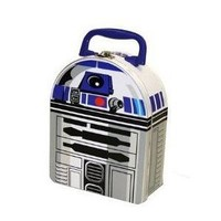 Star Wars R2-D2 shaped Tin Lunch Box or figure carry case