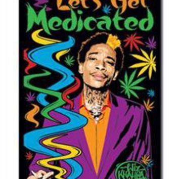 Wiz Khalifa 'Let's Get Medicated' Blacklight Poster