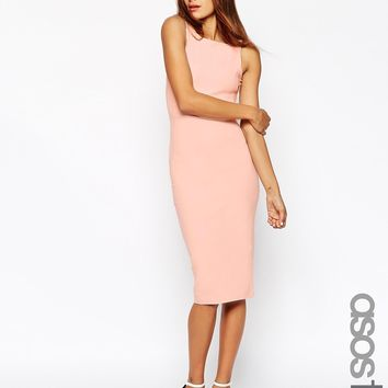 ASOS TALL Strap Back Bodycon Midi Dress