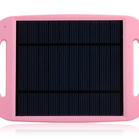 801 Solar Charger Pad for Cell Phone, MP3/4 Player (Pink)