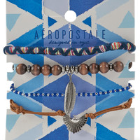 Aeropostale  Bird & Feather Bracelet 4-Pack