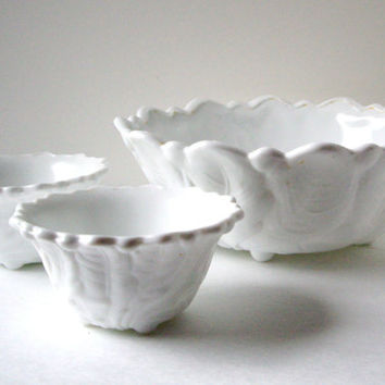 Indiana Milk Glass Bowl Candle Holder Footed by jpcountrymarket