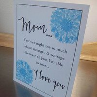 Mom art print, unframed mom poster, mom gift, mother birthday gift, sentimental mama art, love quote art, long distance gift, I love you mom