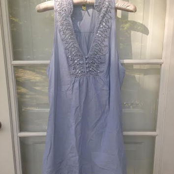 Blue Sequined Free People Dress