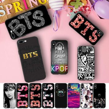Minason kpop boy bands BTS Taehyung Capas Soft Silicone Case for iPhone X 5 S 5S 6 6S 7 8 Plus Cover Phone Fundas Capinhas