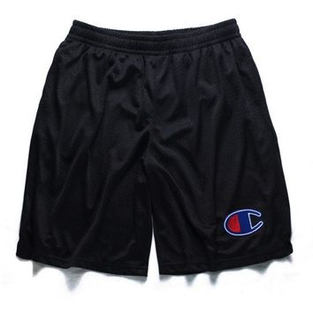 Champion Fashion Reflective Logo Casual Beach Pants Summer Sports Cotton Shorts