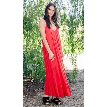 9Seed Paloma Dress Cherry Red