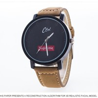 Supreme Designer's Gift Awesome Stylish Trendy New Arrival Casual Glass Alloy Watch [105073180684]