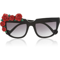 Anna-Karin Karlsson | Rose Rouge cat eye acetate sunglasses | NET-A-PORTER.COM