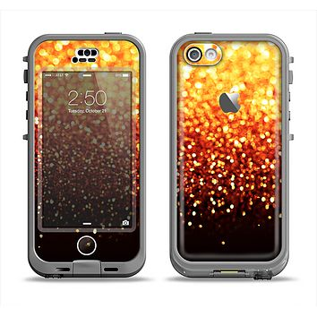 The Faded Gold Glimmer Apple iPhone 5c LifeProof Nuud Case Skin Set
