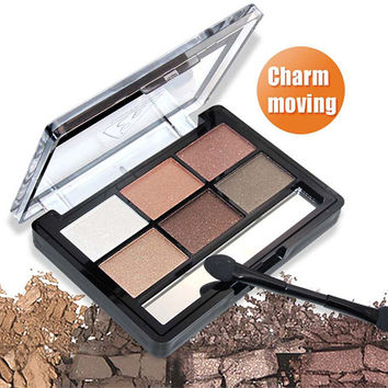 6 Color Matte Eyeshadow Palette Maquiagem Profissional Palette Maquillage Urban Makeup Sombras Naked Makeup Eye Shadow C1258