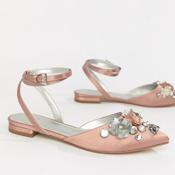 ASOS DESIGN Love Struck Bridal Ballet Flats at asos.com
